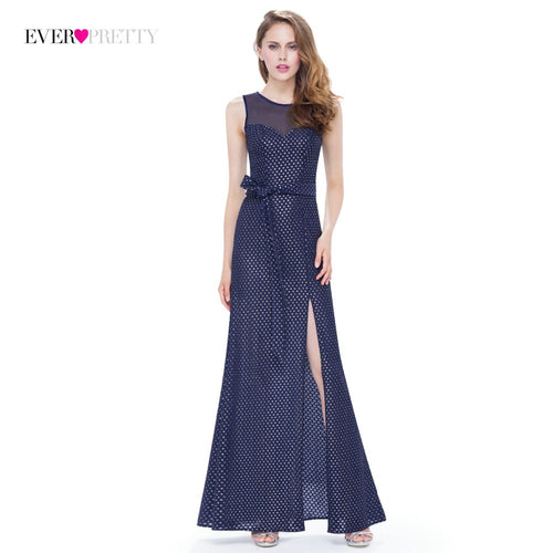[Clearance Style] Ever Pretty Brand Long Evening Dress 2018 Navy Blue Open Back Formal Elegant Special Occasion Evening Gowns
