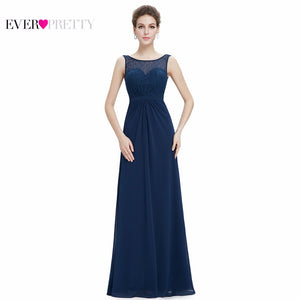 Elegant Evening Dresses Ever Pretty EP08781 Round Neck Sleeveless Long Formal Evening Party Dresses Special Occation For Women