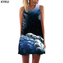 KYKU Tiger Dress Women Animal Vestido Sexy Black Office Black And White Sundress Gothic Short Womens Clothing Summer Gothic Cool