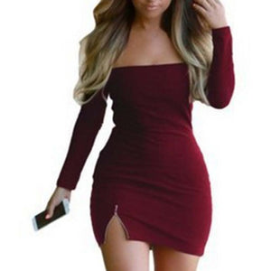 Women Sexy Dress Fashion The Word Shoulder Summer Dress Vestidos Plus Size Women Clothing White Black Dresses