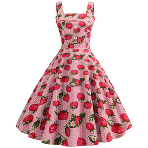 Women Vintage Dress 2019 Robe Summer 1950s 60s Polka Dot Party Dresses Casual Vestidos Elegant Rockabilly Pin Up Sundress