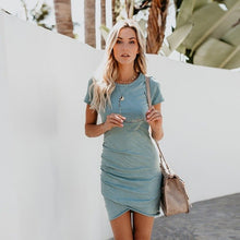 Sexy Dresses Women Summer Sundress 2019 Party Mini Dress Short Sleeve Irregular Hem Casual Bodycon Vestido Plus Size Robe Femme