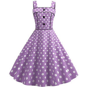 Sexy Retro White Polka Dot Dress 2019 Summer Dresses Hepburn Robes Vintage Party Dress 50s 60s Gothic Pin Up Rockabilly Dress
