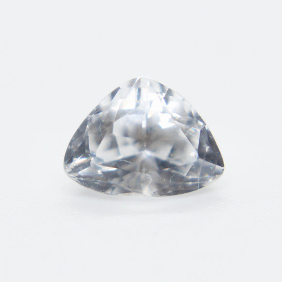 Natural White Sapphire | Trillion Cut | 8x6 mm | Unheated | Untreated | Clean | Colourless Sapphire