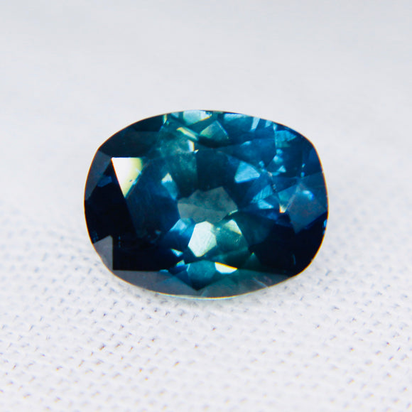 Natural Blue Green Sapphire |  Cushion Cut | 9.28x7.24 mm | 2.75 Carat | Clean | PEACOCK SAPPHIRE For An Engagement Ring