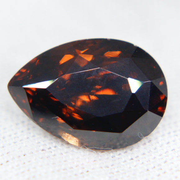 Natural Orangish Brown Zircon | Pear Cut | 8 Carat | 13.53x7.50 mm | No Treatments | Gemstones Pendants | Zircon Jewellery