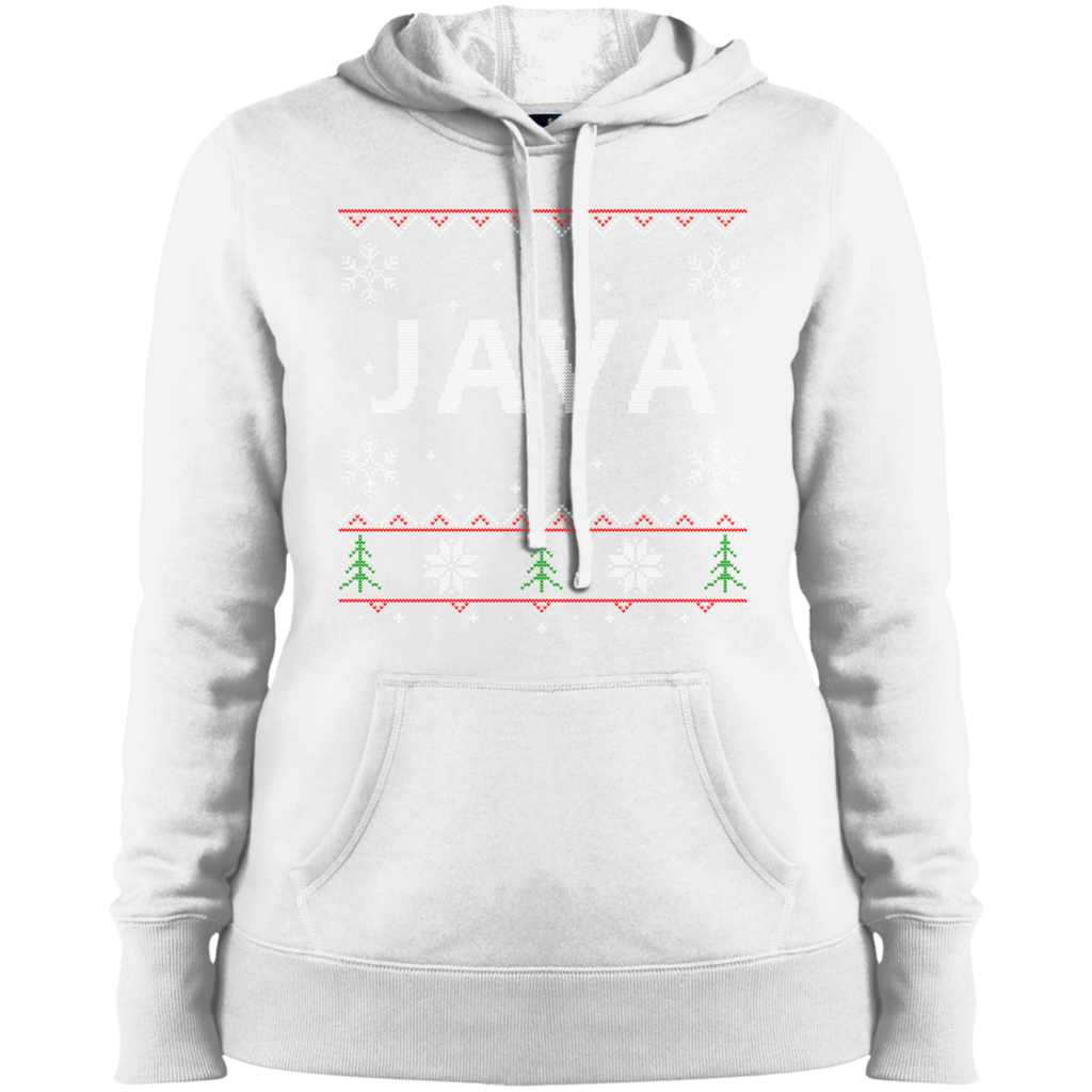 Java Programming Women's Ugly Sweater Christmas Holiday Warm-Sport Hoodie - Bitcoin & Bunk