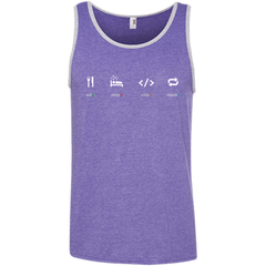 Eat Sleep Code Repeat Pure Cotton Performance Tank-Top