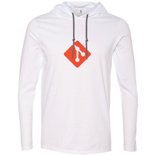 Load image into Gallery viewer, Git Programming Authentic Premium Hooded Long Sleeve Shirt - Bitcoin & Bunk