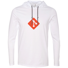 Git Programming Authentic Premium Hooded Long Sleeve Shirt - Bitcoin & Bunk