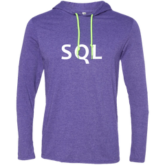 SQL Programming Authentic Hooded Long Sleeve Shirt - Bitcoin & Bunk