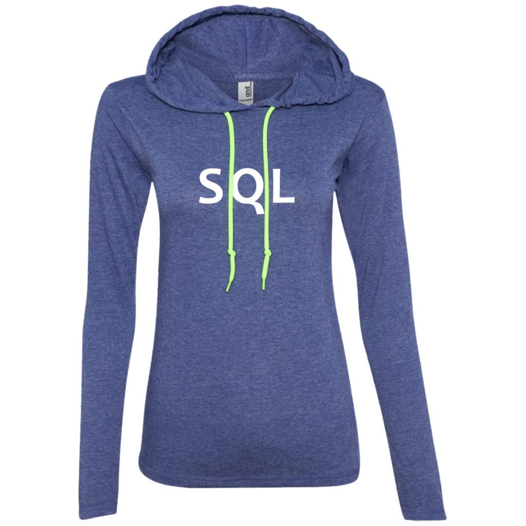 SQL Programming Authentic Women's Long Sleeve Hooded Shirt
