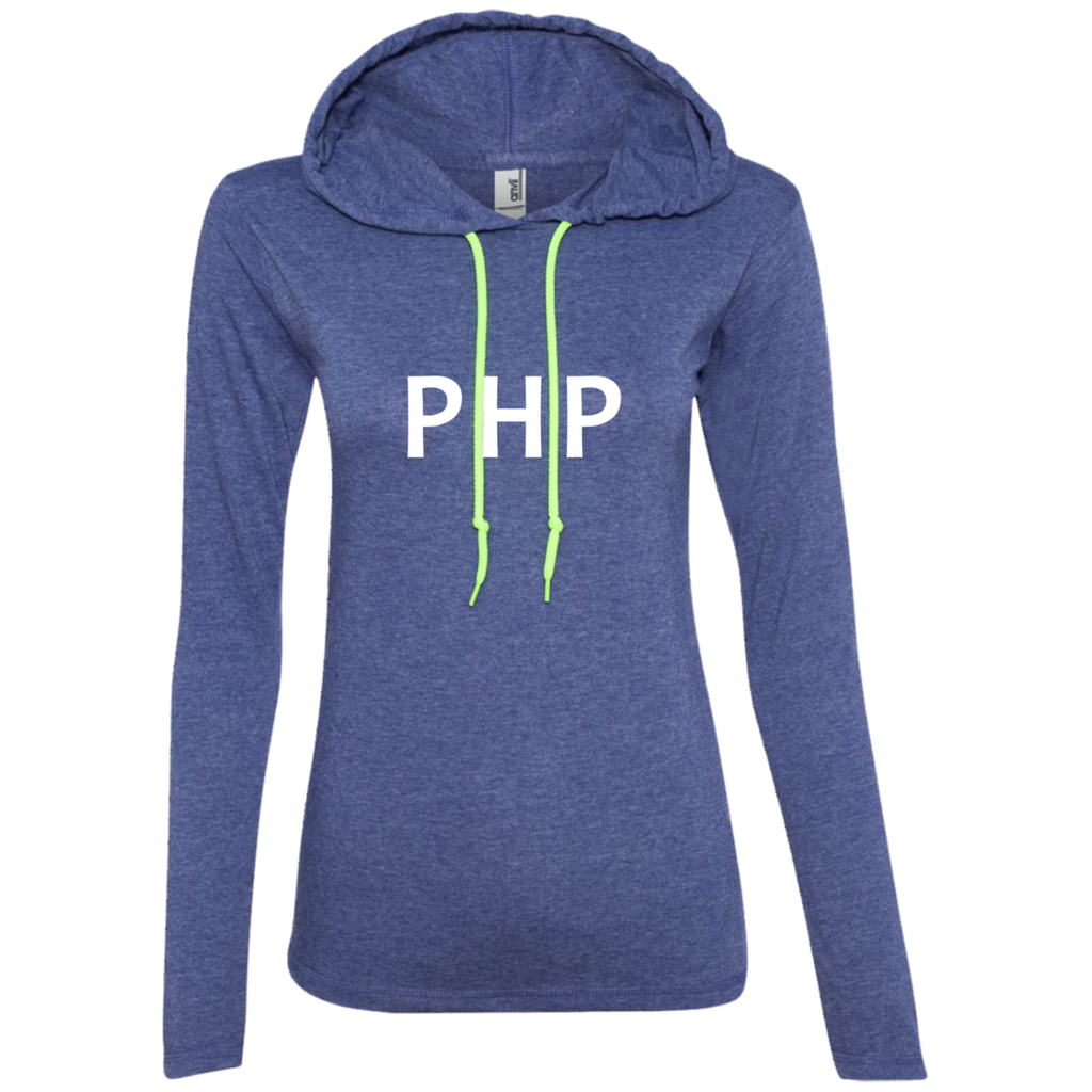 PHP Programming Authentic Women's Long Sleeve Hooded Shirt
