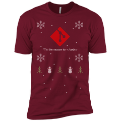 Git 'Tis The Season To Code Ugly Sweater Premium Christmas Holiday T-Shirt