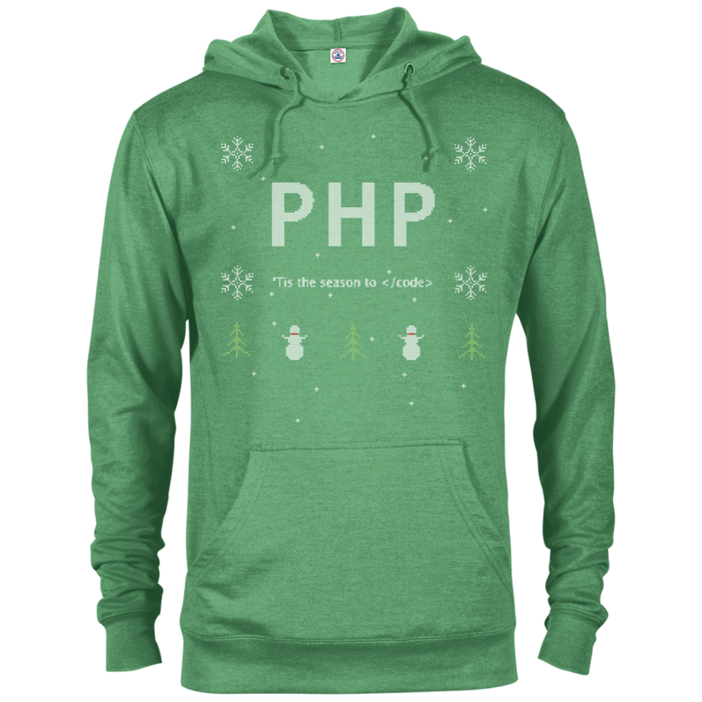 PHP Programming 'Tis The Season To Code Ugly Sweater Holiday Comfort-Fit Hoodie