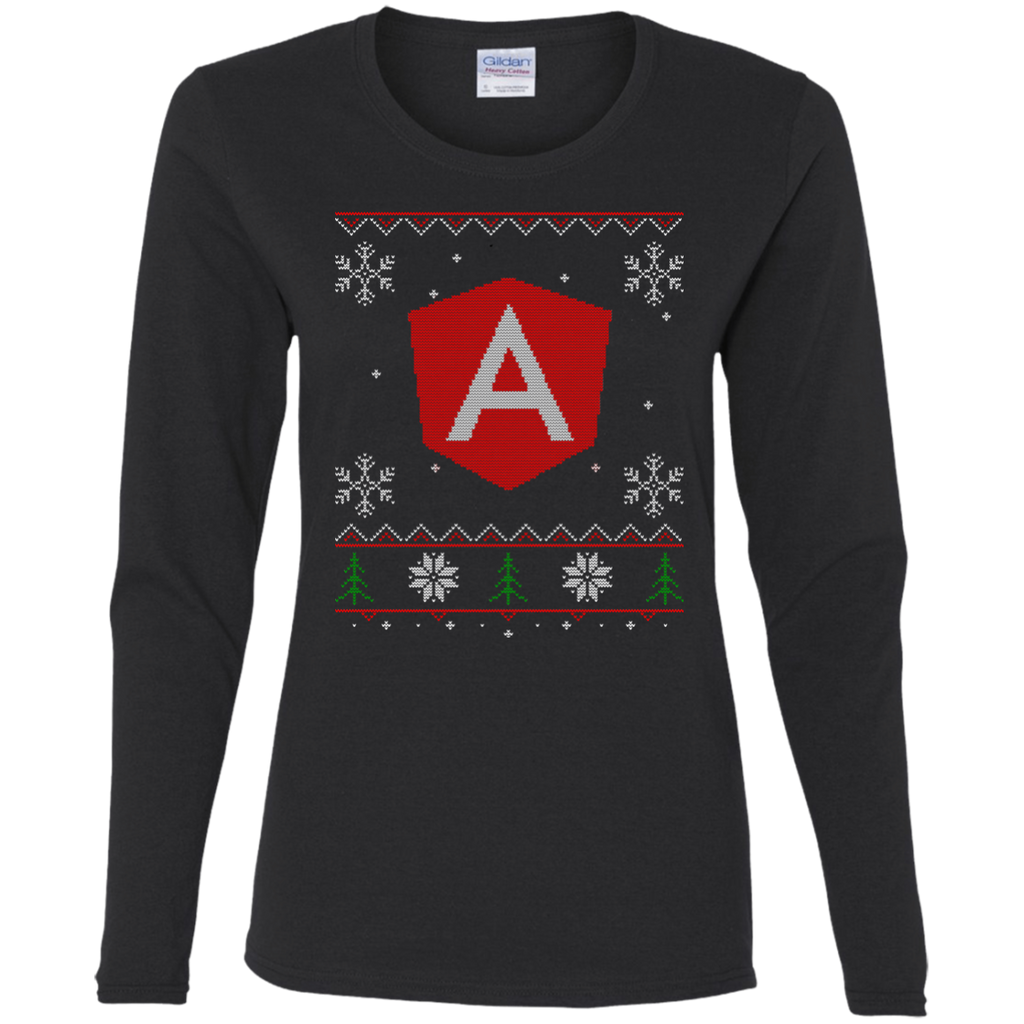 Angular Programming Ugly Sweater Women's Long Sleeve Christmas Holiday Shirt