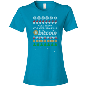 """All I want for Christmas is Bitcoin"" Women's T-Shirt"