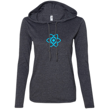 画像をギャラリービューアに読み込む, React Programming Authentic Women's Long Sleeve Hooded Shirt - Bitcoin & Bunk