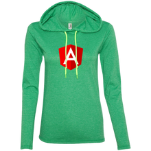 Load image into Gallery viewer, Angular Programming Authentic Women's Long Sleeve Hooded Shirt - Bitcoin & Bunk