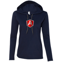 Load image into Gallery viewer, AngularJS Programming Authentic Women's Long Sleeve Hooded Shirt - Bitcoin & Bunk