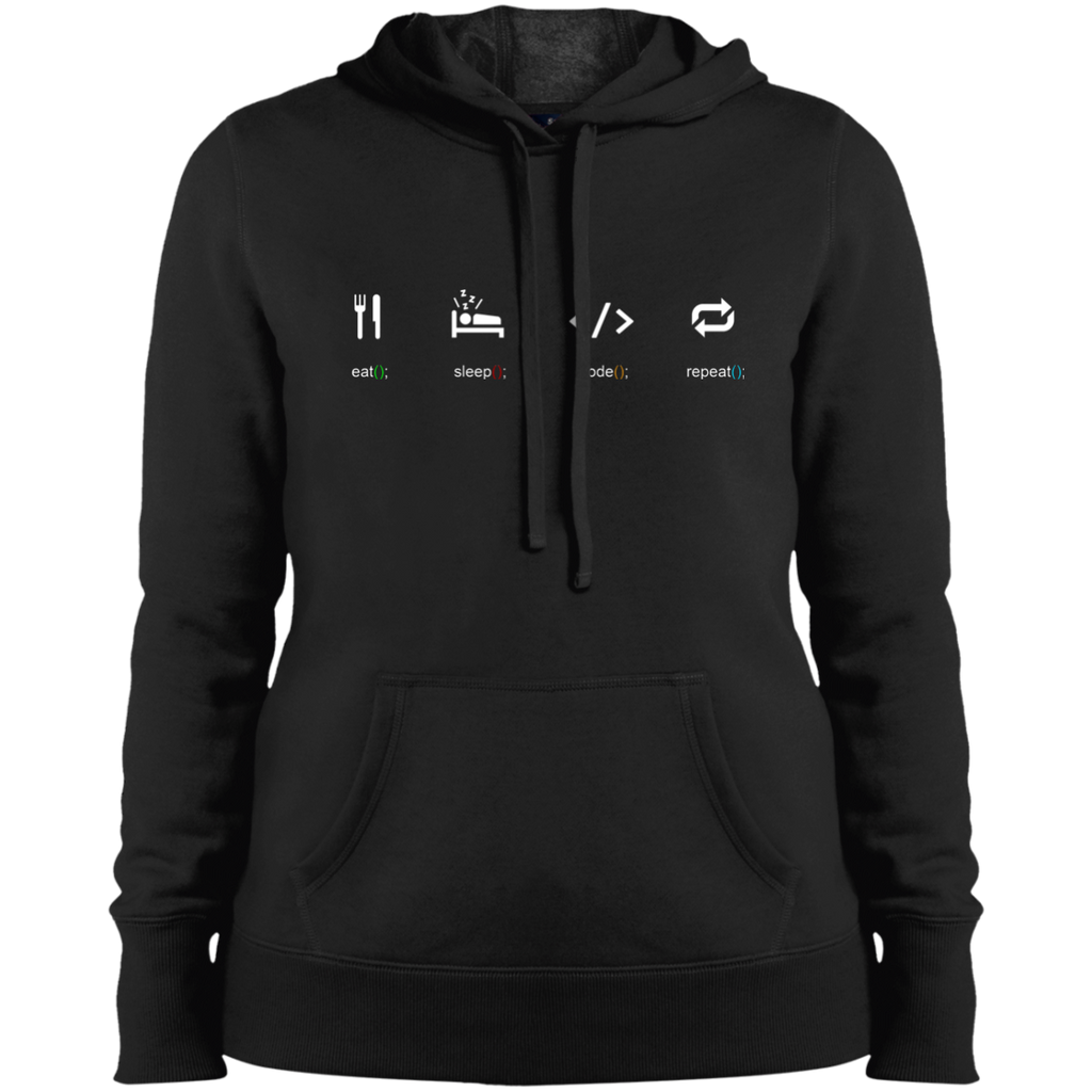 Eat Sleep Code Repeat Women's Warm-Sport Hoodie - Bitcoin & Bunk
