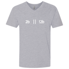 2b Or Not 2b Premium Fitted V-Neck T-Shirt - Bitcoin & Bunk