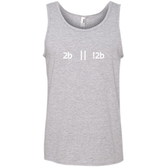 2b Or Not 2b Pure Cotton Performance Tank-Top - Bitcoin & Bunk
