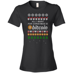 """All I want for Christmas is Bitcoin"" Women's T-Shirt - Bitcoin & Bunk"