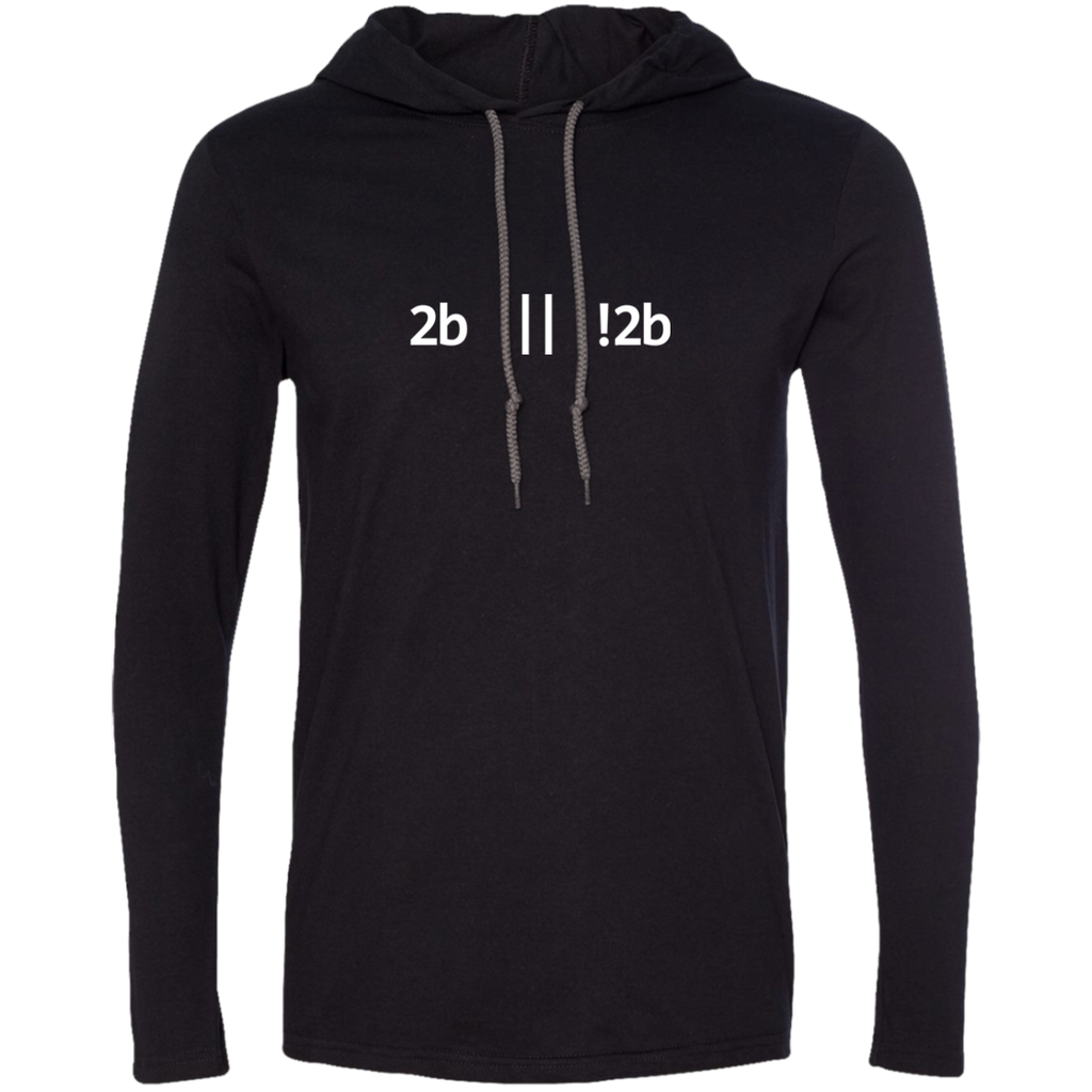 2b Or Not 2b Long Sleeve Hooded Shirt - Bitcoin & Bunk