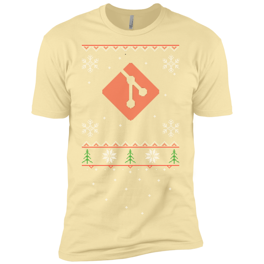 Git Programming Ugly Sweater Premium Christmas Holiday T-Shirt - Bitcoin & Bunk