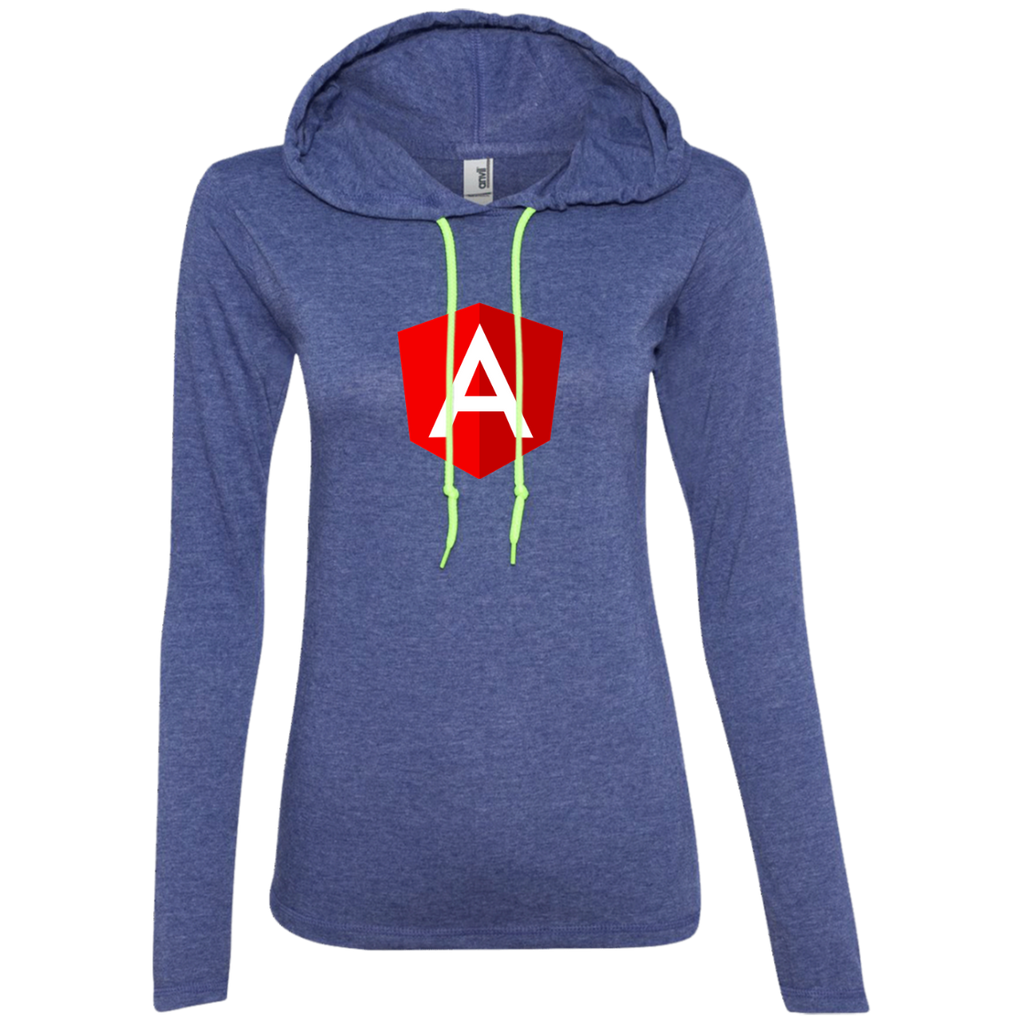 Angular Programming Authentic Women's Long Sleeve Hooded Shirt - Bitcoin & Bunk