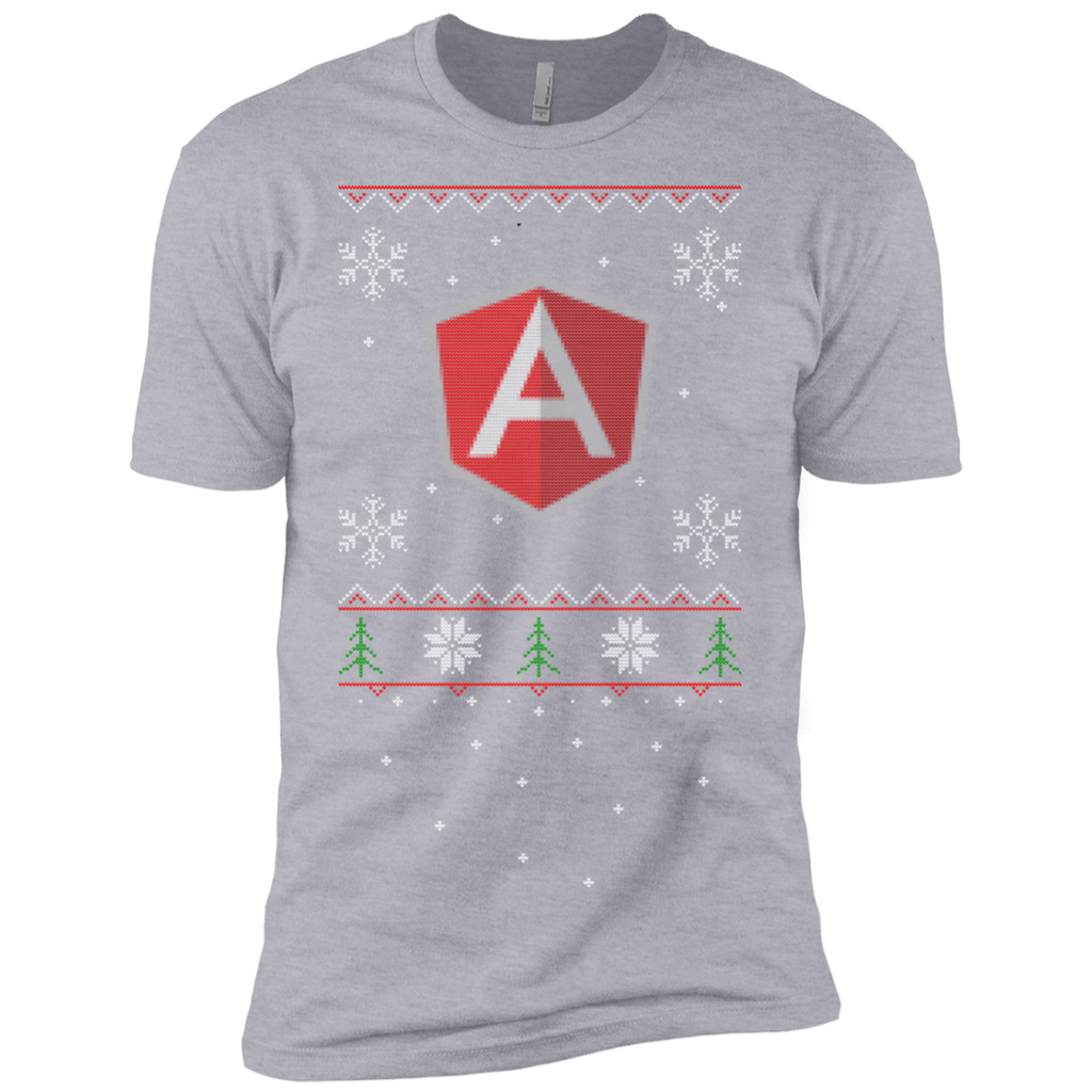 AngularJS Programming Ugly Sweater Premium Christmas Holiday T-Shirt - Bitcoin & Bunk