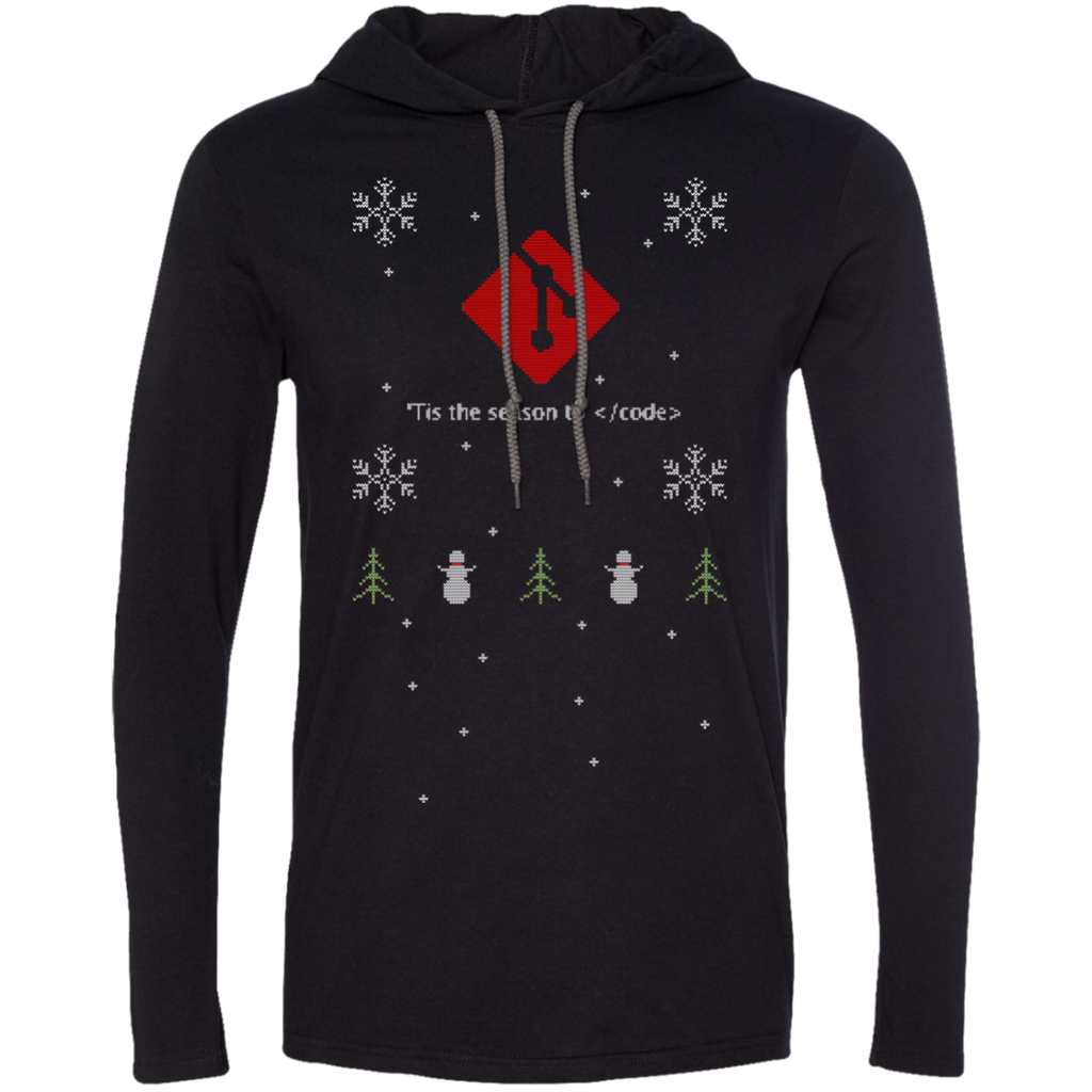 Git 'Tis The Season To Code Premium Hooded Shirt - Bitcoin & Bunk