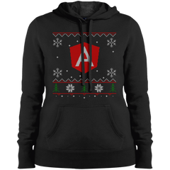 Angular Programming Women's Ugly Sweater Christmas Holiday Warm-Sport Hoodie - Bitcoin & Bunk