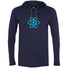 React Programming Authentic Premium Hooded Long Sleeve Shirt - Bitcoin & Bunk