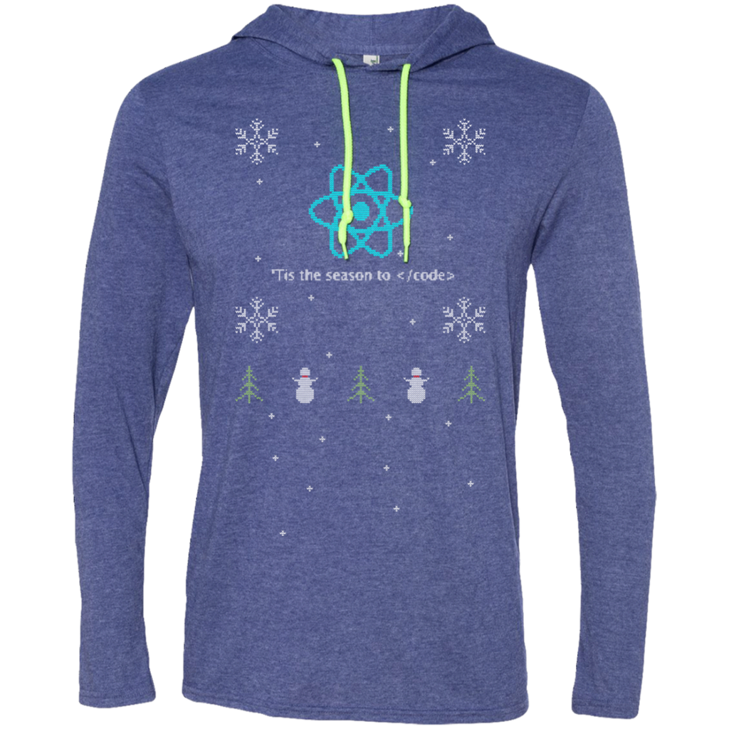React 'Tis The Season To Code Premium Hooded Shirt