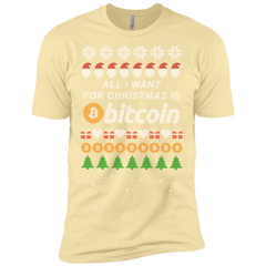 """All I want for Christmas is Bitcoin"" Men's Premium T-Shirt"