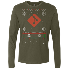 Git Programming Ugly Sweater Premium Long Sleeve Christmas Holiday Shirt - Bitcoin & Bunk