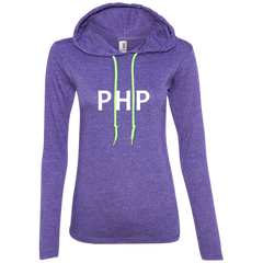 PHP Programming Authentic Women's Long Sleeve Hooded Shirt - Bitcoin & Bunk