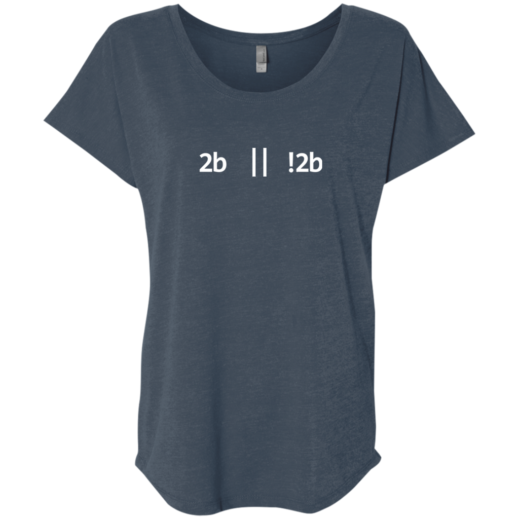 2b Or Not 2b Women's Triblend Comfort-Flow T-Shirt - Bitcoin & Bunk