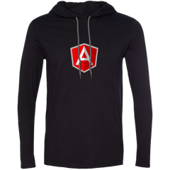 AngularJS Programming Authentic Premium Hooded Long Sleeve Shirt - Bitcoin & Bunk