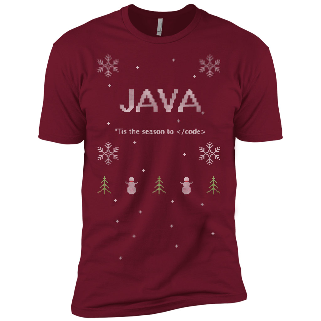 Java 'Tis The Season To Code Ugly Sweater Premium Christmas Holiday T-Shirt