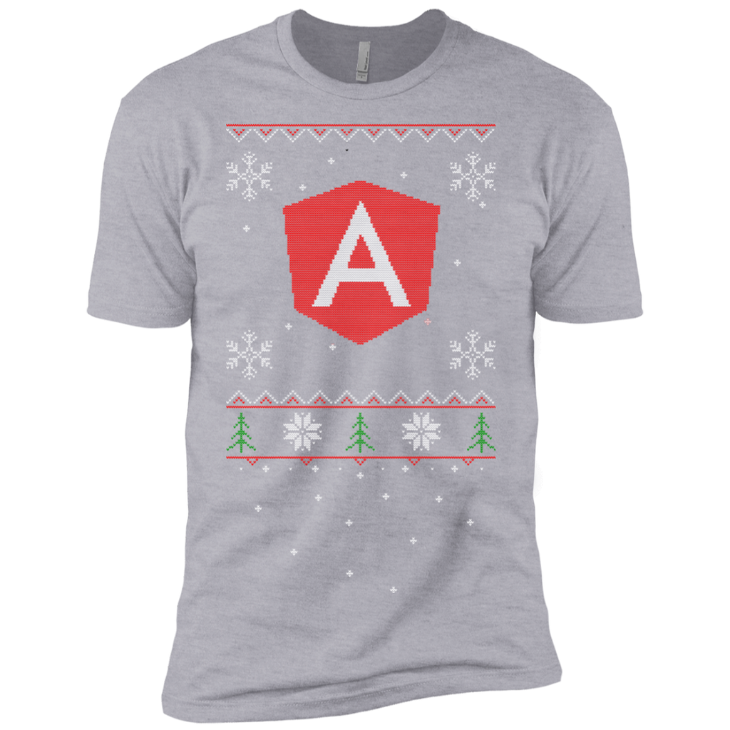 Angular Programming Ugly Sweater Premium Christmas Holiday T-Shirt - Bitcoin & Bunk
