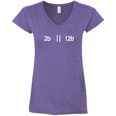 2b Or Not 2b Women's Fitted Comfort-Soft V-Neck T-Shirt - Bitcoin & Bunk