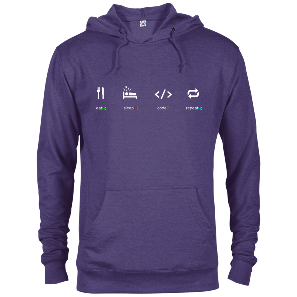 Eat Sleep Code Repeat Warm-Sport Hoodie