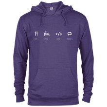 Load image into Gallery viewer, Eat Sleep Code Repeat Warm-Sport Hoodie - Bitcoin & Bunk