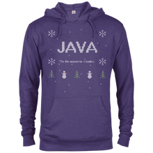 Load image into Gallery viewer, Java Programming 'Tis The Season To Code Ugly Sweater Holiday Comfort-Fit Hoodie - Bitcoin & Bunk