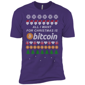 "Copy of ""All I want for Christmas is Bitcoin"" Men's Premium T-Shirt - Bitcoin & Bunk"