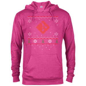 Git Programming Ugly Sweater Christmas Holiday Comfort-Fit Hoodie - Bitcoin & Bunk