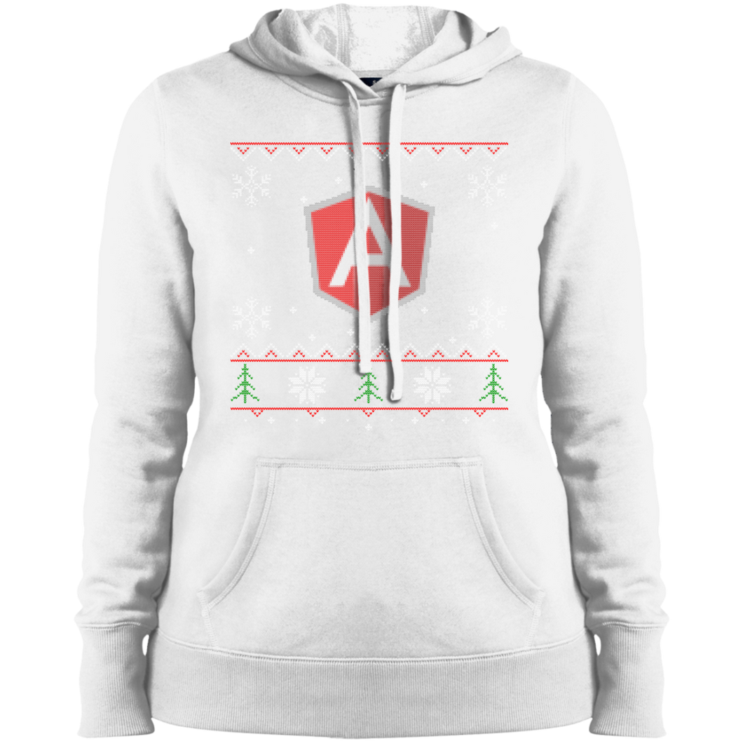 AngularJS Programming Women's Ugly Sweater Christmas Holiday Warm-Sport Hoodie - Bitcoin & Bunk